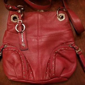**SALE**B Makowsky red leather crossbody